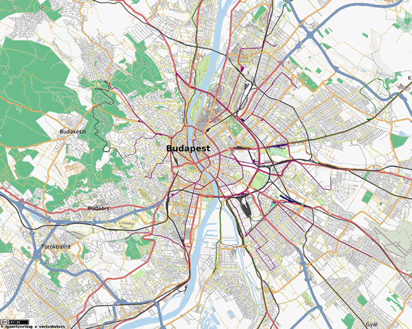 Stadtplan Budapest